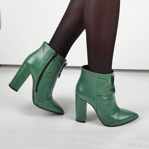 GHETE STILETTO EMERALD - poza 4