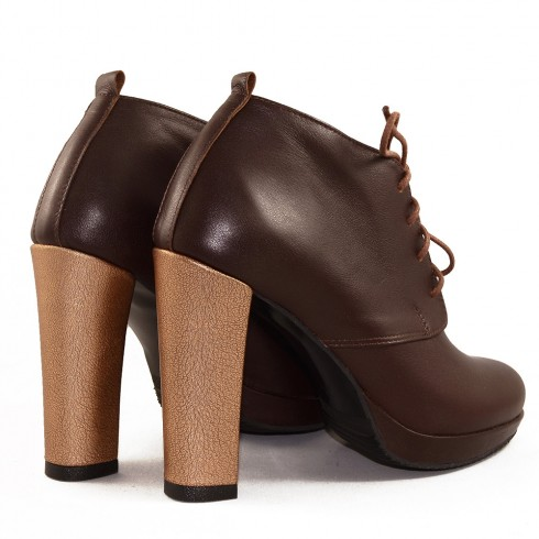 BOTINE BROWN SHADE CU TOC
