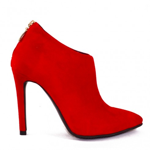 BOTINE STILETTO RED HEART