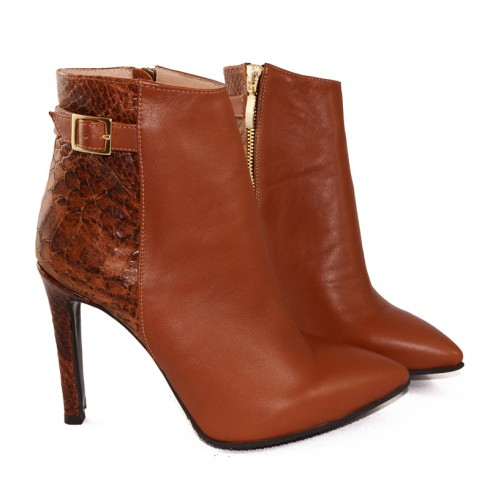 GHETE STILETTO COGNAC