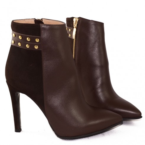 GHETE STILETTO BROWN - poza 3