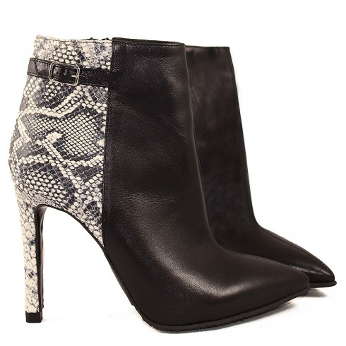 GHETE STILETTO BLACK&WHITE  - poza 2