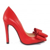 STILETTO RED BOW