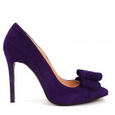 STILETTO PURPLE BOW