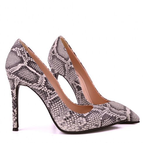 STILETTO SNAKE BLACK&WHITE