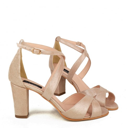 SANDALE NUDE SIDEFAT PIELE SMOOTH ASTER - poza 2